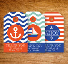 Nautical Party Theme - nautical party theme thank you lolly bag tags by ledinghamshop