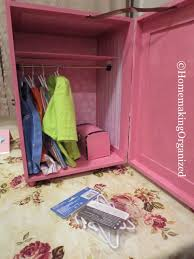 18 inch doll storage cabinet a cute pink diy 18 inch doll closet homemaking organized
