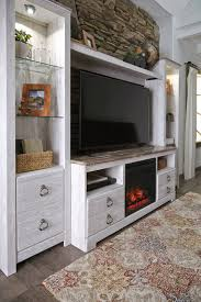 willowton entertainment center with fireplace insert bewleys