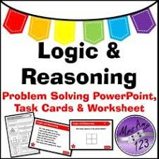 work backwards problem solving powerpoint task cards and