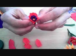 Paper Flowers Video - how to make paper flower poppy beautiful flowers video