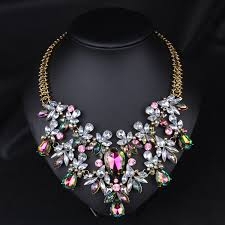 chunky fashion necklace images Colorful crystal necklace fashion statement necklace choker jpg