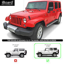 silver jeep rubicon 2 door iboard running boards 4