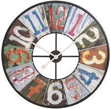Grande Horloge Murale Carrée En Bois Vintage Achat Rustique Vintage