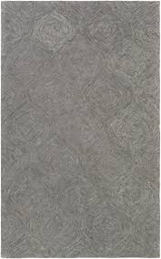 8 X 13 Area Rug Solid Rug Hermitage Hmt 2361 Charcoal Grey Solid Rug