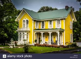 Victorian House Style The Wright House A Fanciful Two Storied Yellow Victorian House