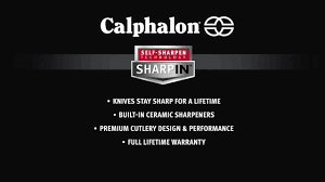 calphalon classic self sharpening 12 piece cutlery set with