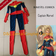 Captain Halloween Costume Dhl Ms Marvel Costume Captain Marvel Karla Sofen Costume Navy