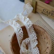 crochet elastic ribbon 20yards white cotton crochet lace trim elastic stretch
