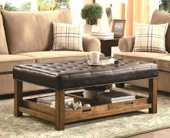 coffee table tufted leather ottoman large vintage chesterfield