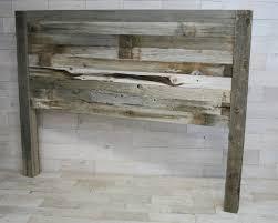 Rustic Wood Headboard Recumbent Headboard Made From Barn Wood Reclaimed