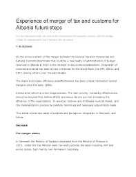 experience of merger of tax and customs for albania future steps 1 638 jpg cb 1452852163