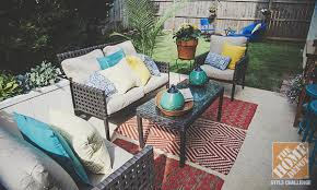Home Depot Patio Designs Patio Decorating Ideas Throw Pillows And Spray Paint