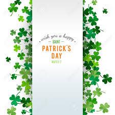Shamrock Green St Patrick U0027s Day Background Illustration For Lucky Spring Design