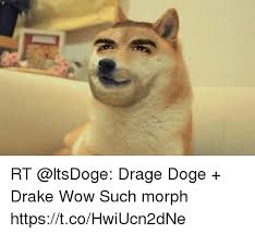 Doge Wow Meme - rt drage doge drake wow such morph httpstcohwiucn2dne doge