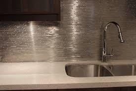 Simple Kitchen Backsplash Silver Glass Tile In Design Ideas - Silver backsplash