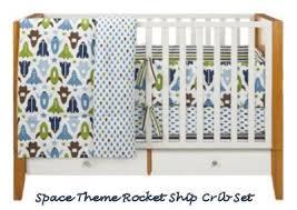 Rocket Ship Crib Bedding Navy Blue And Green Baby Boy Space Rocket Ship Nursery Crib