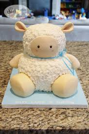 little lamb baby shower cake cake by leila shook shook up