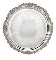 engraved serving platter reed barton s 2302 silver plated engravable