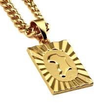 aliexpress buy nyuk new arrival men ring gold nyuk trendy new arrival africa map pendant necklace gold hip hop