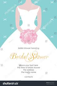 bridal shower invitation template bridal shower invitation template beautiful stock vector
