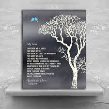 10 year wedding anniversary gifts my poem personalized tin 10 year wedding anniversary gift