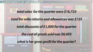 what is gross profit definition formula u0026 calculation video