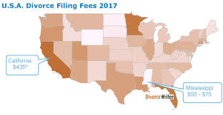u s divorce filing fees