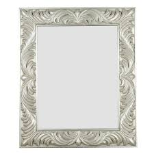 shop kenroy home antoinette antique silver wall mirror at lowes com