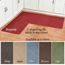L Shaped Kitchen Rug L Shaped Berber Corner Skid Resistant Floor Hallway