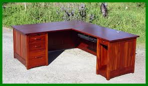 L Shaped Executive Desk Voorhees Craftsman Mission Oak Furniture Greene And Greene Style