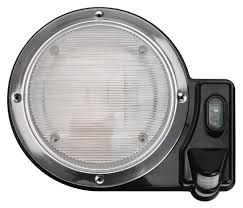 smart lights 016 sl2000b 2000 round motion sensor porch light black