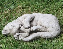 stoneware cat garden ornaments dragonstone
