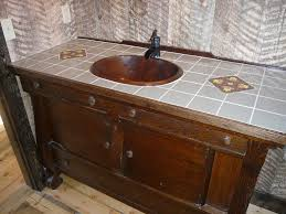 mosaic tile wall rustic bathroom vanities for sale sink bathroom