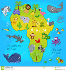 Map Pf Africa by Map Of Africa With Animals Stock Vector Image 65431553