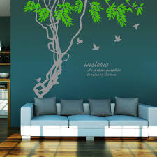 ivy home decor ivy leaves tree branches birds wall art mural decor sticker