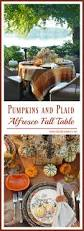pumpkins and plaid alfresco fall table u2013 home is where the boat is
