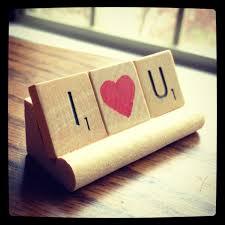 Mizzou Home Decor I Love You Anniversary Gift Love Hearts Girlfriend Gift
