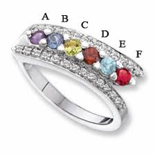 mothers day ring 14kt s day ring with 6 genuine birthstones and diamond accents
