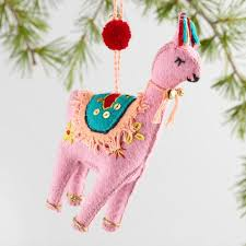 felt llama ornaments set of 3 world market