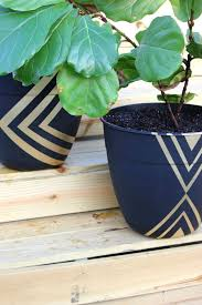 snazzy painted planter pots planter pots geometric painting and