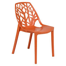Plastic Feet For Outdoor Furniture by Cornelia Tree Design Dining Chair In Orange