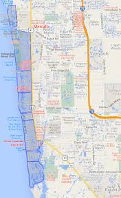 Florida Map Of Beaches by Waterfront Community Map Of Naples Fl Homes And Condos For Sale
