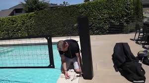 united pool volleyball net system set up youtube