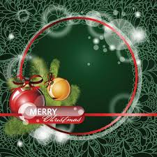 free vector red merry christmas border on floral background