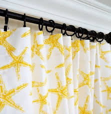 Nautical Window Curtains Yellow Curtains Yellow Grey Window Curtain Nautical