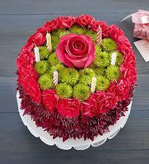 Flower Cakes Birthday Wishes Flower Cake Purple 1800flowers Com 148668