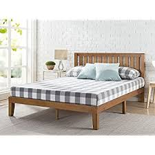 Bed Frame No Headboard Zinus 12 Inch Wood Platform Bed With Headboard No
