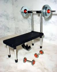 Weights And Bench Set Miniature Weight Sets And Equipment And Fitness Gifts