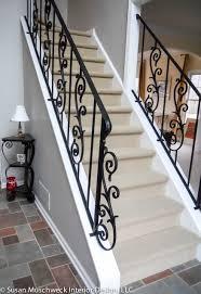 wrought iron railings traditional staircase eva furniture
